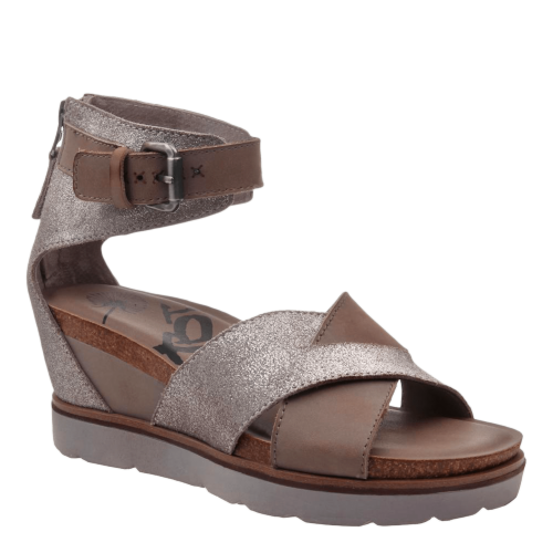 TEAMWORK in GREY SILVER Wedge Sandals