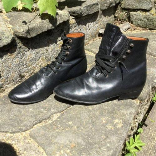 Low Heel Spring Daily Leather Boots