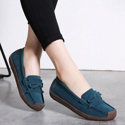 Womens Shoes Spring Autumn Flats Slip-ons Butterfly-knot Ladies Loafers Breathable Casual Shoes Women Sturdy Sole