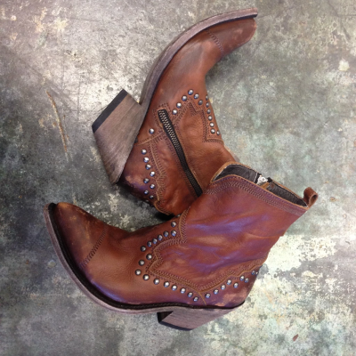Leather Casual Low Heel Fall Boots