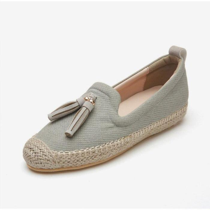 Spring Autumn Women Flats Tassel Breathable New Espadrilles Female Non Slip Comfortable Loafers Shoes Ladies Fashion Footwear