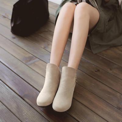 Flock Short Boots Plus Size Women Shoes 6128