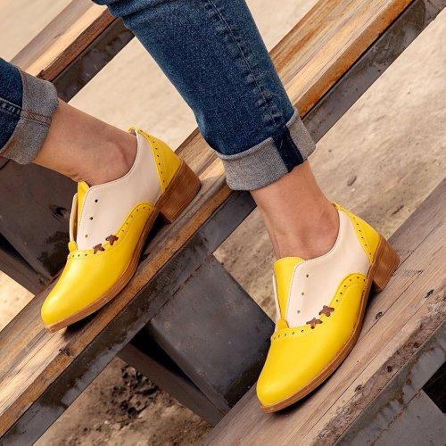 Yellow All Season Pu Loafers