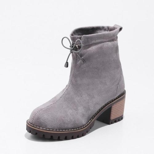 Women's Ankle Boots Round Heads Short Boots Shoes