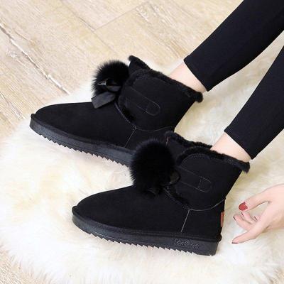 Women's Daily Fur Suede Winter Snow Boots  Low Heel