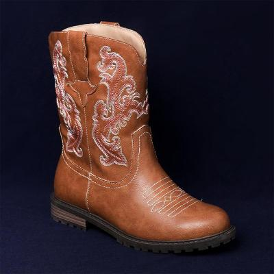 Women Winter Vintage Embroidery Ankle Boots