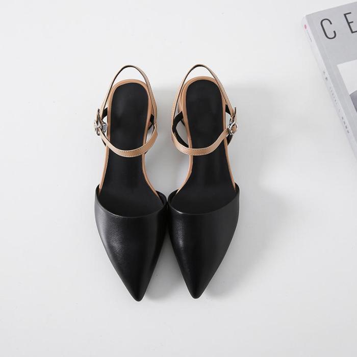 Contrast Fashion Versatile Chunky Heel Sandals