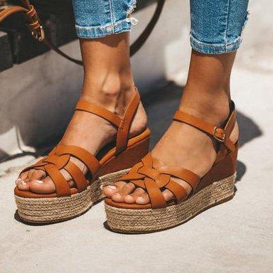 Summer Wedge Heel Daily Sandals