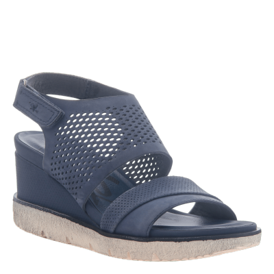 MILKY WAY in NEW BLUE Wedge Sandals