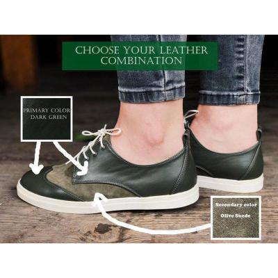 Women Round Toe Flat Heel Pu All Season Lace-Up Loafers