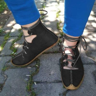 Daily Flat Heel Leather Boots