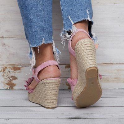 Women Wedge Sandals Casual Peep Toe Adjustable Buckle Sandals Shoes