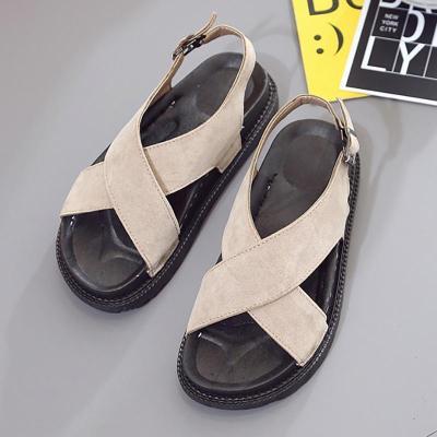 Women Nubuck Sandals Casual Adjustable Buckle Shoes