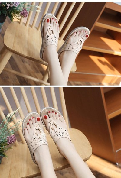 2020 Summer Women Slippers Thick Sole Flat Platform Shoes Flip Flops Women Beach Slippers Plus Size 42 A908
