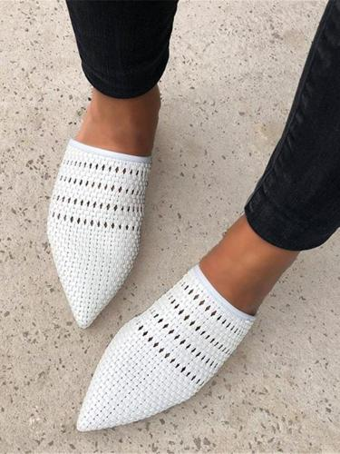 Women's Woven Pointed Flats