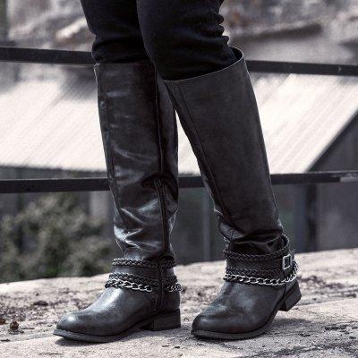 Women Winter Slip-On Vintage Knee-High Boots