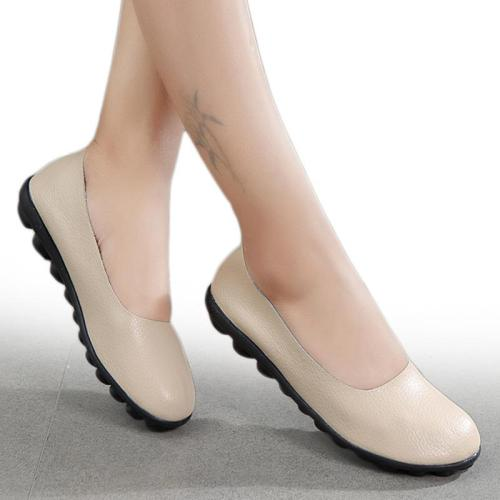 Women Flats Shallow Women Shoes For Nurse Ballerina Chaussures Femme Casual Women Loafers Genuine Leather Ballet Flat Shoes