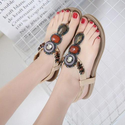 Shoes woman sandals female 2019 new fashion summer women shoes string bead flat summer sandals women comfortable women sandals