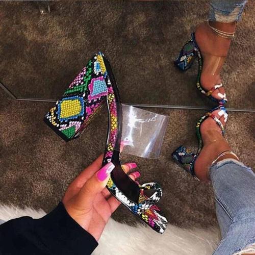 Cuteshoeswear CuteshoeswearLITTHING Summer Women Sandals Fashion Ladies Shoes Open Toe Thick Heel Sandals Female Outdoor High Heel Beach Woman Shoes