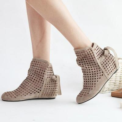 Hollow Out Short Boots Plus Size Women Shoes 9224