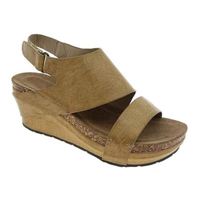 Wedge Sandals Summer Magic Tape Middle Heel Shoes