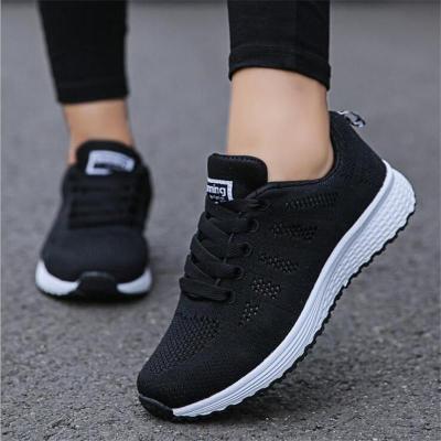 cuteshoeswearWomen Casual Shoes Fashion Breathable Walking Mesh Flat Shoes Woman White Sneakers Women 2019 Tenis Feminino Gym Shoes Sport