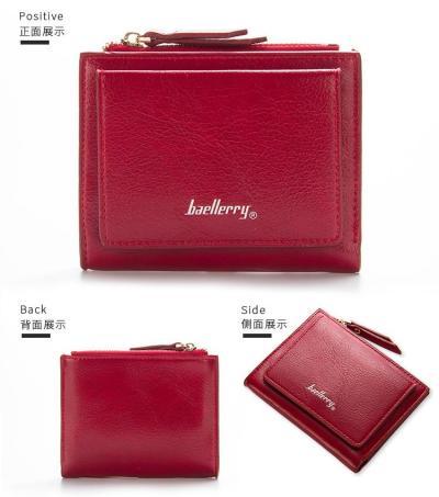 Women Zipper Short Wallet Coin Purse Card Holders Handbag Wallet Female Small Womens Wallets and Purses Cross Cute Small Portfel