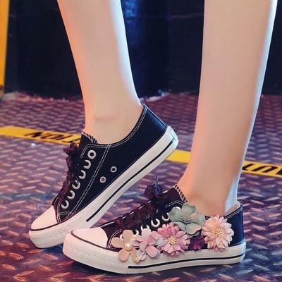 Woman Shoes Women's Canvas Sneakers Flower Fashionable Womens Sneaker Nonslip Wear Resistant Casual Woman Tennis