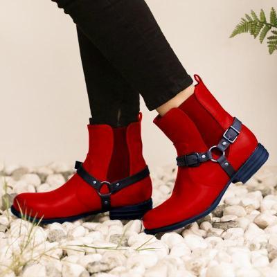 Brown Winter Pu Boots