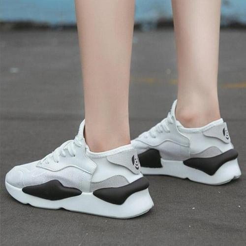 Women Shoes White Running Shoes Air Mesh Breathable Designer Platform Sneakers Sports Shoes Woman Wear Resistant