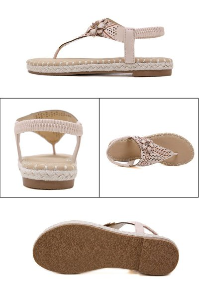 2019 Summer Shoes Women Sandals Flip Flops Casual Women Beach Sandals Ladies Summer Holiday Shoes Woman Flat Plus Size 42 A1400