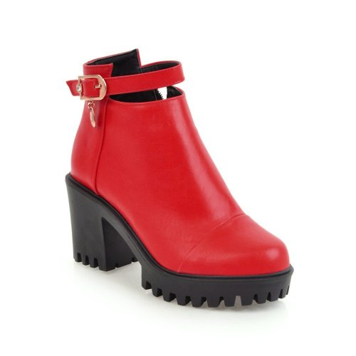 Women Shoes autumn and winter zipper Platform Short Boots