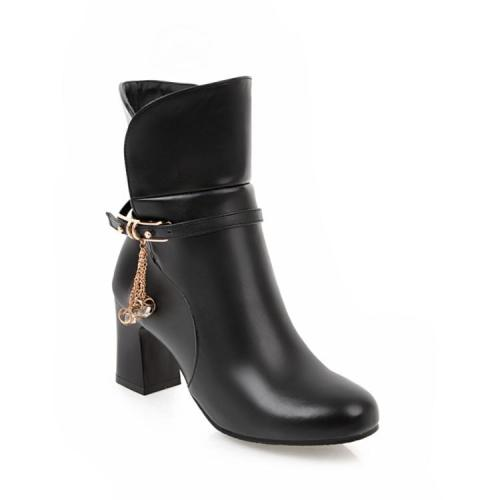 Women's Ankle Boots High Heel Autumn and Winter Short Boots Shoes