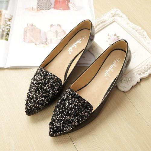 2019 New Summer Pointed Toe Pu Leather Sweet Light Mouth Casual Single Shoes Fashion Pregnant Women's Flat Shoes YX0015