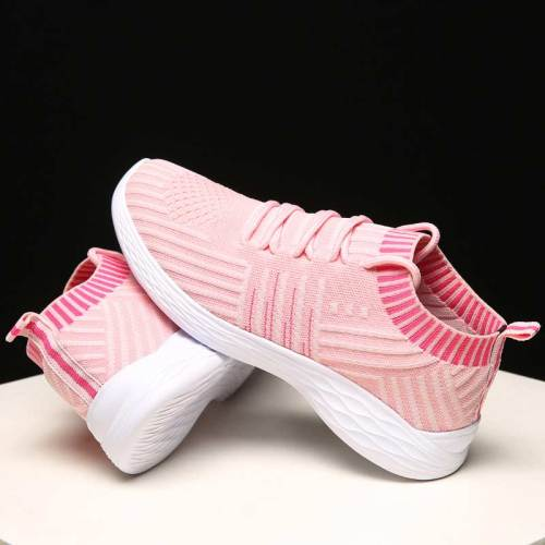 Sneakers women vulcanized shoes 2020 fashion lighted breathable mesh casual shoes woman lace-up solid sneakers women plus size