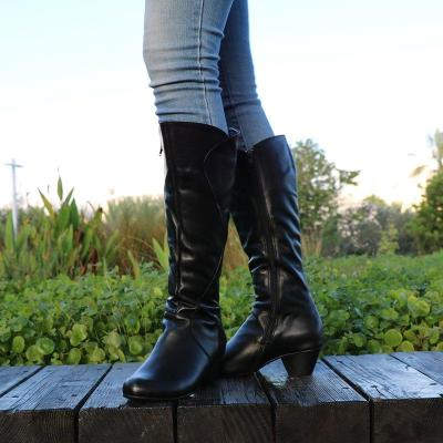 Knee-High Long Boots Artificial Leather Zipper Casual Boots