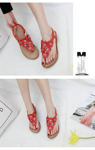 2019 Summer Women Shoes Sweet Ladies Sandals Flip Flops Women Wedge Sandals Woman Bohemia Sandals A1018