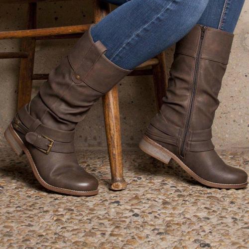 Women's casual flat boots