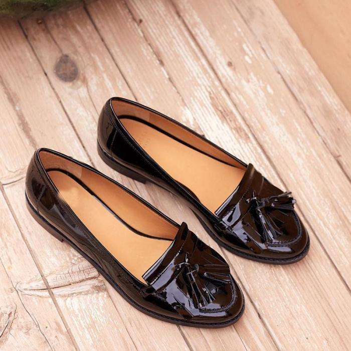 Women's Casual Solid Color Plaid Shallow Mouth Flat Shoes