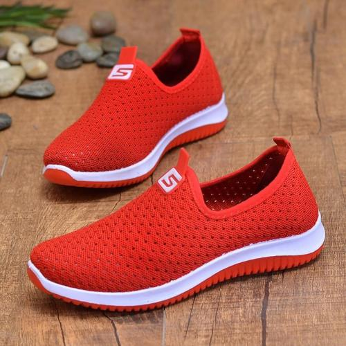 Fashion Hollow Wedges Shoes For Women Slip on 2019 New Girls Sports Shoes Shallow Breathable Casual Woman Sneakers Solid