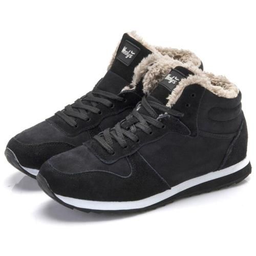 Women Flats Casual Winter Shoes Woman Plus Size 47 Lovers Zapatillas Mujer Suede Leather Winter Sneakers Basket Femme Footwear