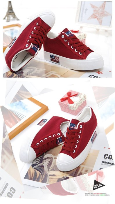 2018 Women New Fashion Platform Canvas Shoes Casual Ladies Casual Shoes Female Footwear Breathable Women Shoes CLD914