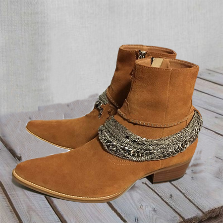 All Season Chain Suede Boots