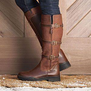 Daily Leather Flat Heel Knee Boots