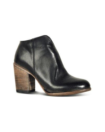 Leatherette Zip Chunky Ankle Bootie