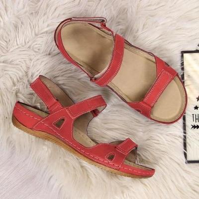 CuteshoeswearLitthing  2020 New Summer Sandals Women Flat Ladies Comfortable Ankle Hollow Round Toe Sandals Soft Sole Shoes
