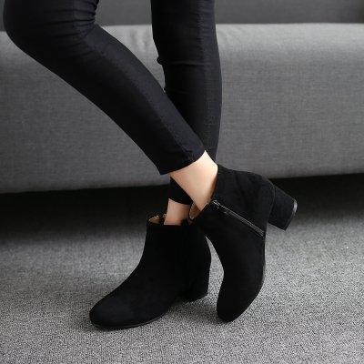 Autumn Winter Short Boots Low Heels Women's Ankle Boots