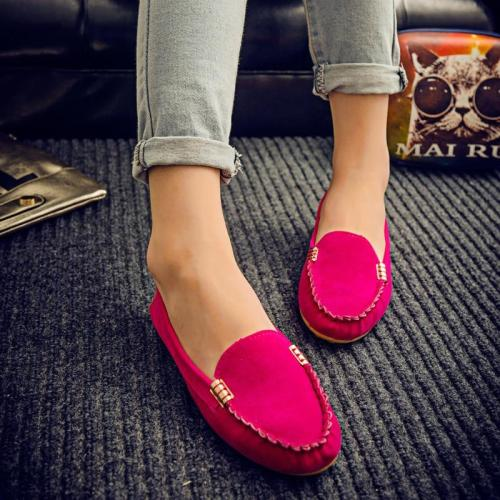 Plus Size 35-43 Women Flats shoes 2021 Loafers Candy Color Slip on Flat Shoes Ballet Flats Comfortable Ladies shoe zapatos mujer
