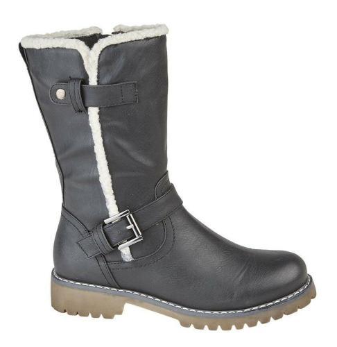 Women Winter Casual Faux Suede Split Joint Long Boots