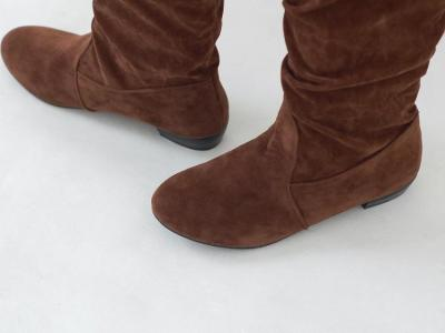 Suede Knee High Boots Shoes for Woman 8147